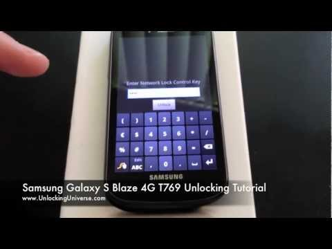 How to Unlock Galaxy S Blaze 4G for all Gsm Carriers using an Unlock Code