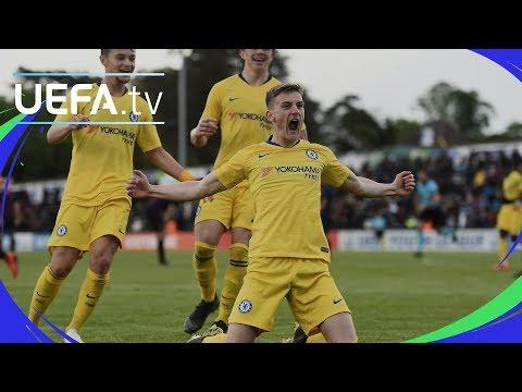 UEFA Youth League Semi-final highlights Barcelona v Chelsea