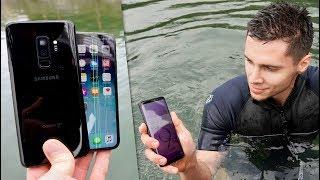 Samsung Galaxy S9 vs iPhone X Water Test! Secretly Waterproof?