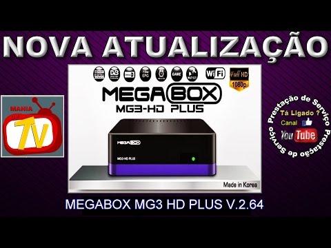 NOVA ATUALIZAÇÃO (ATT) MEGABOX MG3 HD PLUS V.2.64