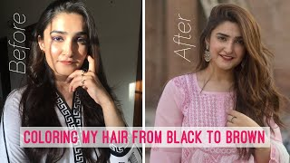 HOW I DYE MY HAIR - LIGHT ASH BROWN AT HOME