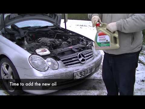 Mercedes clk320 a209 service youtube for Mercedes benz oil change service