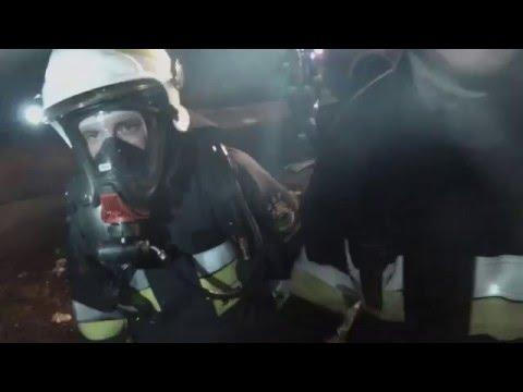 Pożar Budynku W Katowicach - Akcja Ratowniczo Gaśnicza - [PKP 2016]