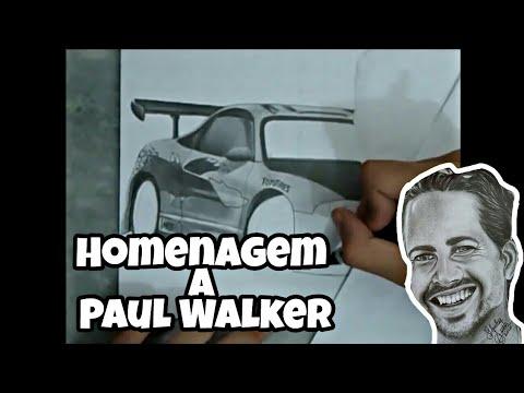 Desenhando paul walker !