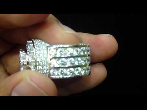 Mr Chris Da Jeweler Custom Sterling SIlver Channel Set Exclusive Ring $240.00  ( VNO : CR4887 )