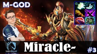 Miracle - Dragon Knight MID | M-GOD | Dota 2 Pro MMR Gameplay #3
