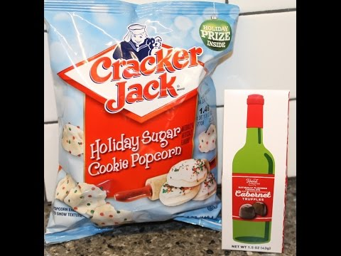 Cracker Jack Holiday Sugar Cookie Popcorn & Cabernet Truffles Review