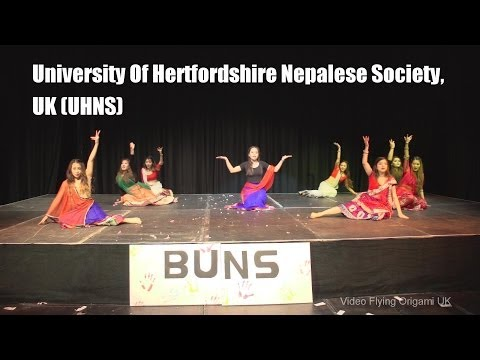 Inter-Uni Nepalese Dance Competition 2014 (University Of Hertfordshier Nepalese Society, UK) UHNS