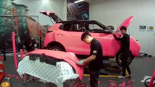 SSANGYONG TIVOLI Full Wrap 3M 1080 Fluorescent Satin Neon Pink _Team Carskin