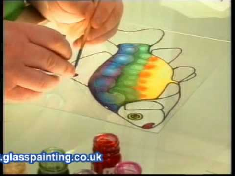 Glass painted clock project part 1 youtube for Solvent based glass paint