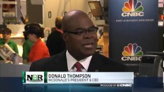 Inside McDonald's Research Kitchen with CEO Don Thompson  (4/26/13)