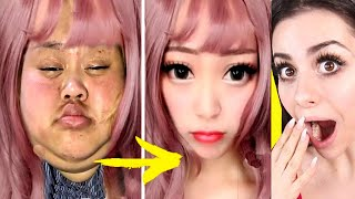 Viral Asian MAKEUP TRANSFORMATION Tutorial !