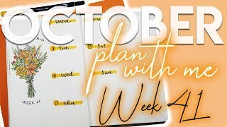 Plan With Me | Week 41 | Flower Theme
