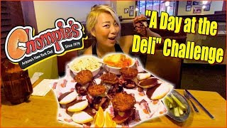 """A Day at the Deli"" Challenge at Chompies in Arizona #RainaisCrazy (as seen on Man vs Food)"