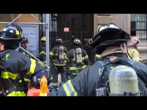 """FDNY BATTLING """"ALL HANDS"""" TRANSFORMER FIRE WITH EXTENSION INTO BUILDING & MINOR EXPLOSION IN NYC."""