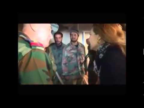 الفنانة رغدة في بلدة المليحة مع الجيش العربي السوري
