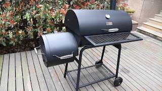 Royal Gourmet CC1830F BBQ Charcoal Grill with Offset Smoker