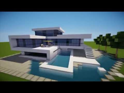 MINECRAFT: How To build A Modern House / Best modern House 2013 - 2014 ( hd ) Tutorial
