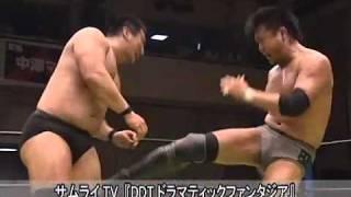 Sanshiro Takagi vs Munenori Sawa   DDT pro-wrestling  2009.06.28
