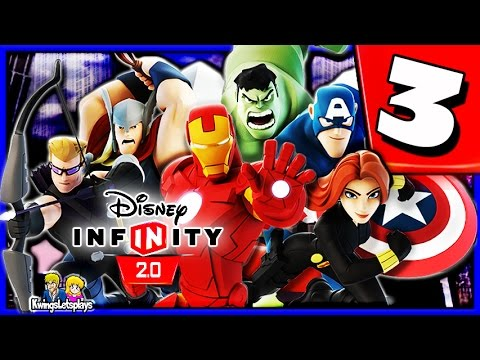 Disney Infinity 2.0 Walkthrough Part 3 (Make Mine Marvel) The Avengers Playset