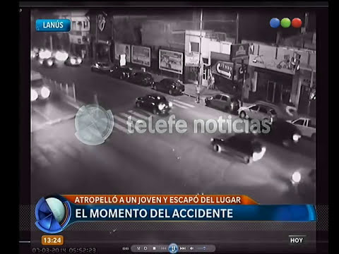 Impactante video de un atropello en Lanús - Telefe Noticias