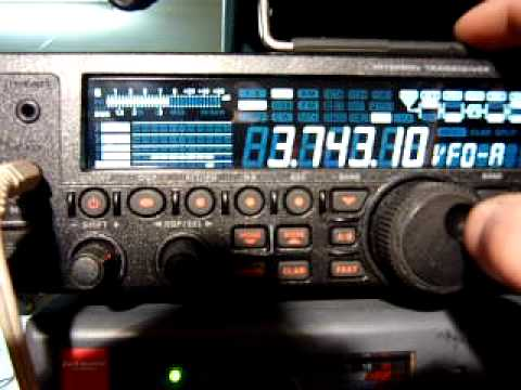 yaesu ft-450at ham radio contest on 80m band receiving by end fed longwire