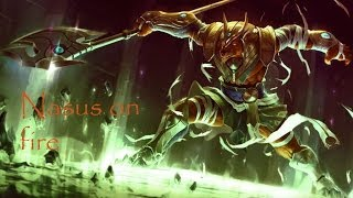 Nasus on fire - Ultra rapid fire mode - League of legends