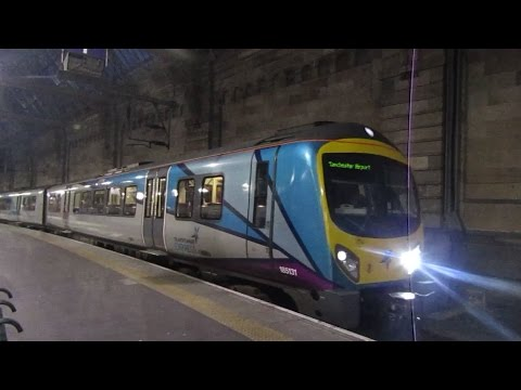 Transpennine class 185131 departing Glasgow central for Manchester Airport