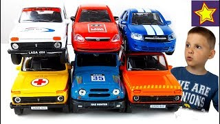 Машинки Игрушки Лада Нива Ралли Велли Машинки на гонках Toys for kids
