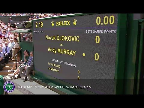 Andy Murray v Novak Djokovic (2013 Men's Final) - Rolex Wimbledon Golden Moments