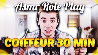 ✂ asmr Coiffeur 30 minutes ! ( salon de coiffure Role play ) Français Français ✂