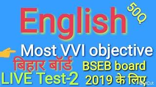 English class-X part-2 VVI important objective questions