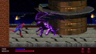 Spider Man Web of Fire (Sega 32X) Gameplay
