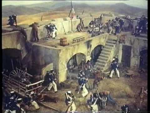 Davy Crockett king of the wild frontier - alamo battle scene