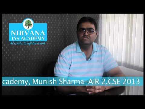 IAS TOPPER 2013, AIR-2, Munish Sharma (Hindi)
