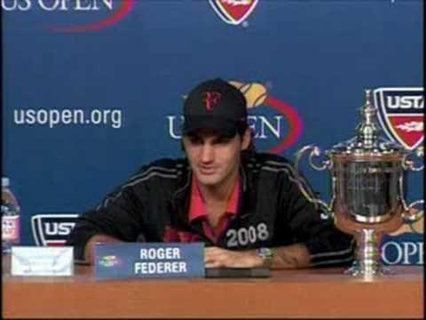 全米オープン 決勝戦(ファイナル) s Press Conference ロジャー フェデラー 09.08.2008 Part 2