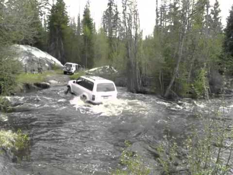 Okanagan Land Cruiser River Crossing Up Chute video