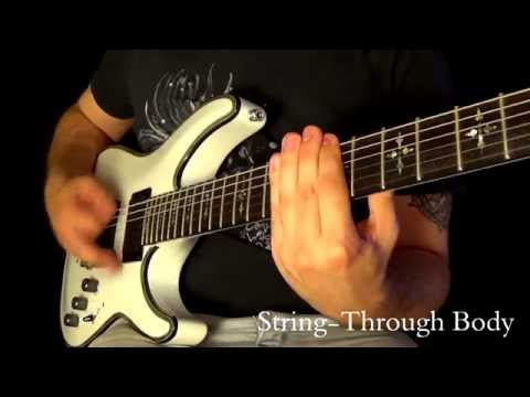 Schecter Hellraiser C1 White video