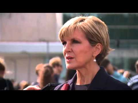 Julie Bishop says Australia considering a political solution to Assad regime
