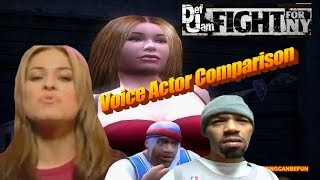 DEF JAM | GAME TO VOICE ACTOR COMPARISON (PS4 PRO & PS3 4K 60FPS)