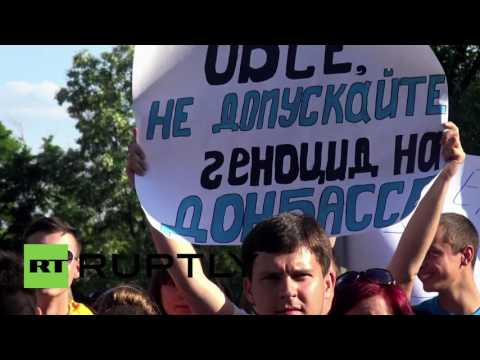 Ukraine: Suggestion of armed OSCE mission causes mass protest in Donetsk