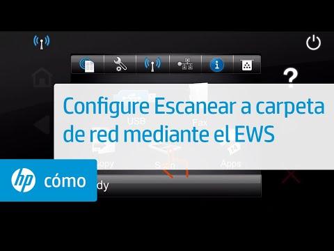 Configure Escanear a carpeta de red mediante el Servidor web incorporado (EWS) | HP Computers | HP