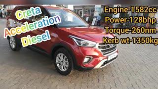 Hyundai creta 1.6 diesel(2019) 0-100 acceleration in ☺️😗 sec
