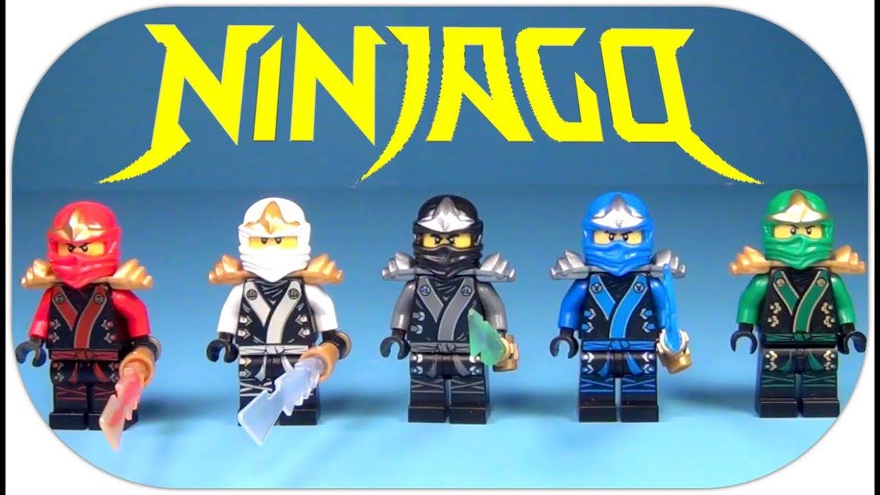lego ninjago all 5 ninjas of spinjitzu ninjago