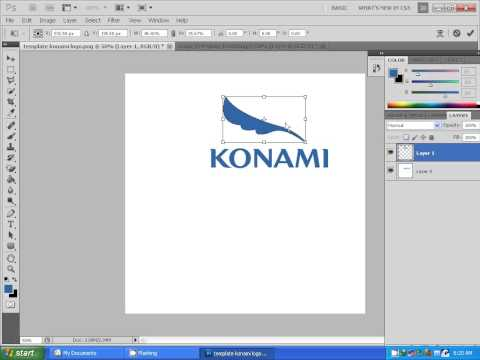 Cara Membuat New Konami Logo PES 2013 by Asun11