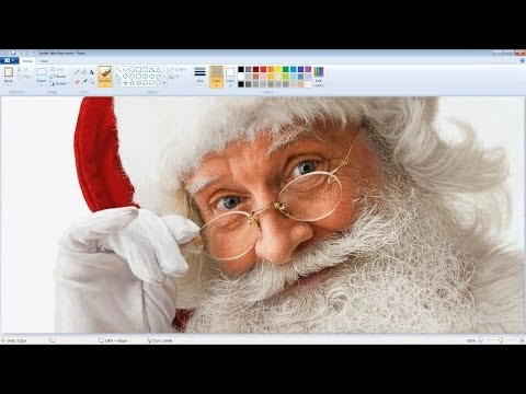 Unbelievably Realistic Microsoft Paint Art : Santa Claus Speed Painting Time Lapse