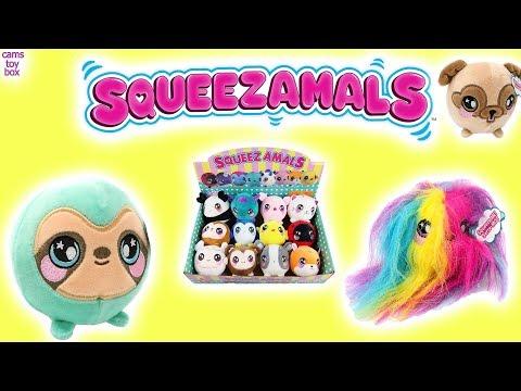Squeezamals Series 2 Big Blind Box Opening Squishy Plush Animal TOYS