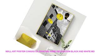 Wall art poster canvas oil painting home decoration black and white mo