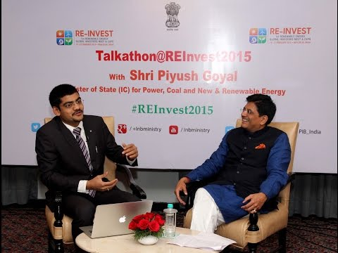 Talkathon with Shri Piyush Goyal #REInvest2015