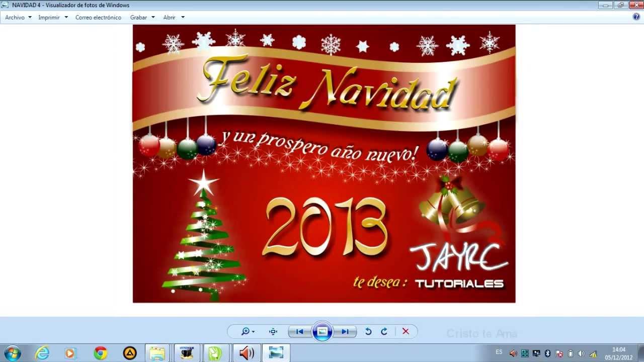 Como hacer un dise o para navidad en corel draw youtube - Crear christmas de navidad ...
